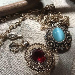 Sarah C bundle Charms on gold chain